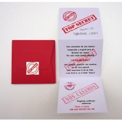 Invitación de boda original Tríptico en caja