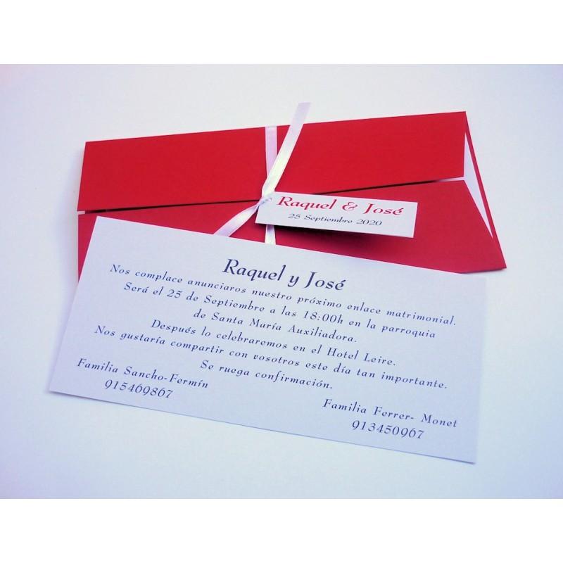 Invitación tríptico rojo 1