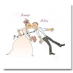 Invitación de boda Beso