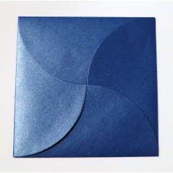 Sobre para invitaciones de boda con forma de pétalo color azul