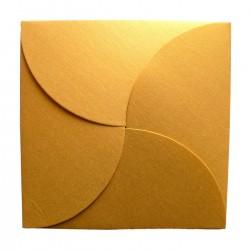 Sobre para invitaciones de boda con forma de pétalo color oro