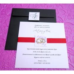 Tarjetón de boda Nicosia
