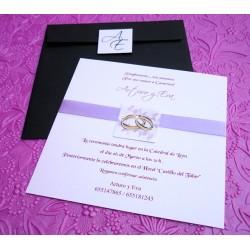 """Invitación de boda """"Siracusa"""""""
