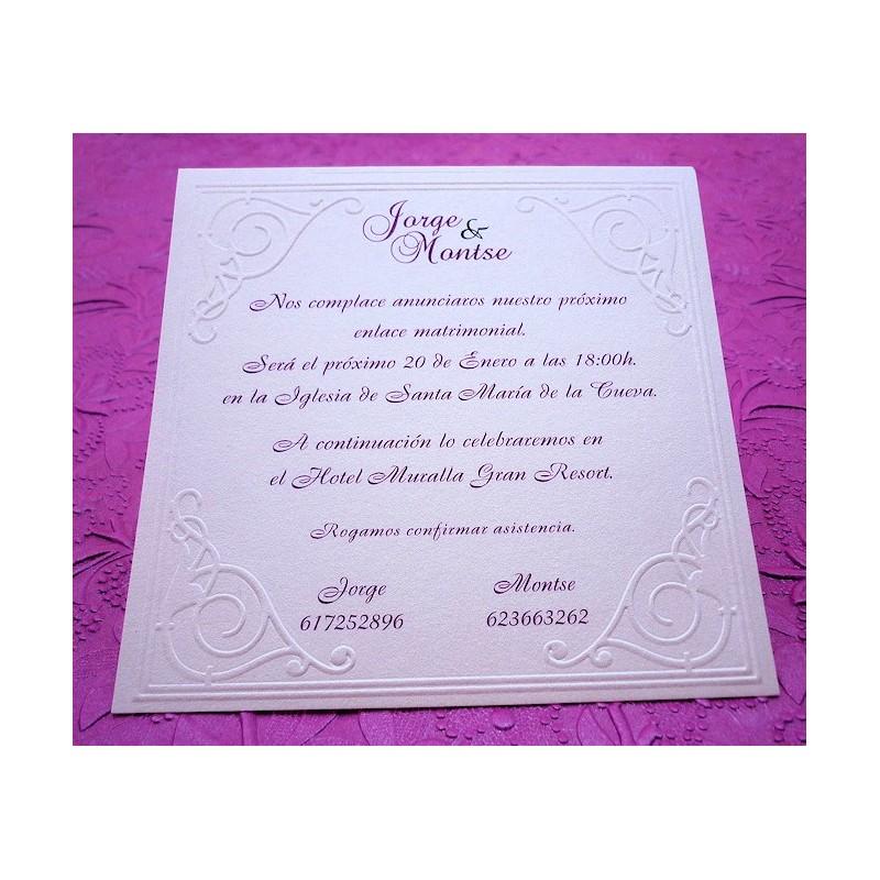 """Invitación de boda """"Hermes"""""""