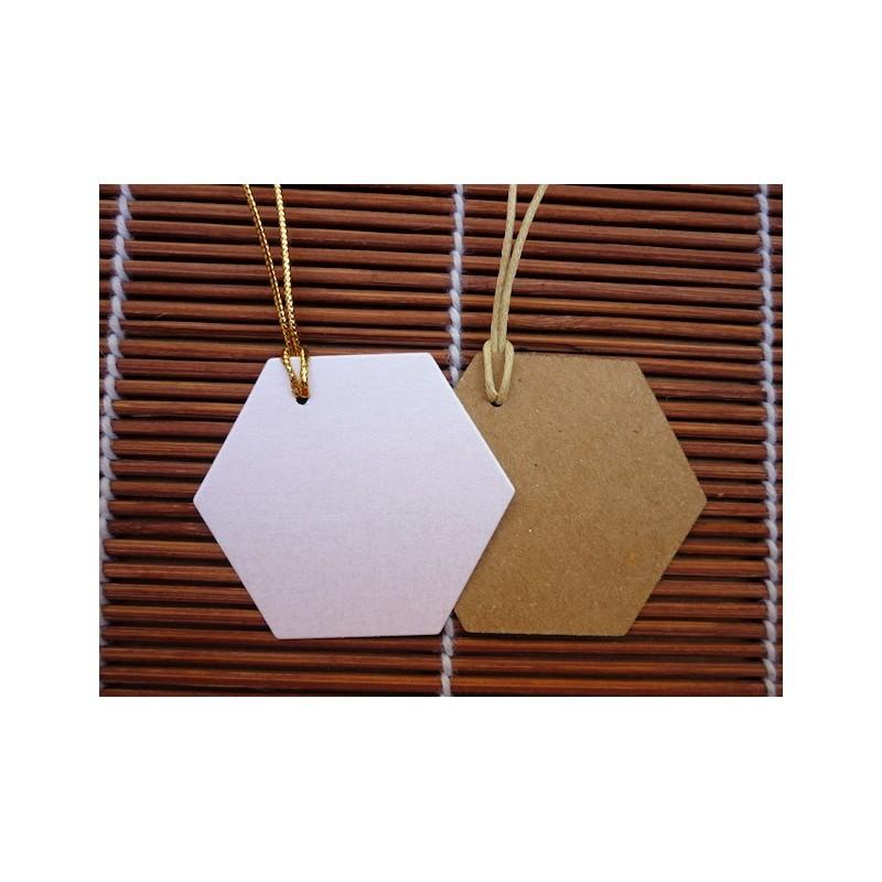 Tarjeta para tus obsequios hexagonal