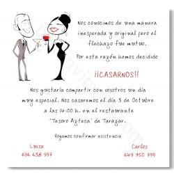 Invitación de boda Brindis