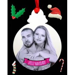 Felicitación de Navidad bola árbol