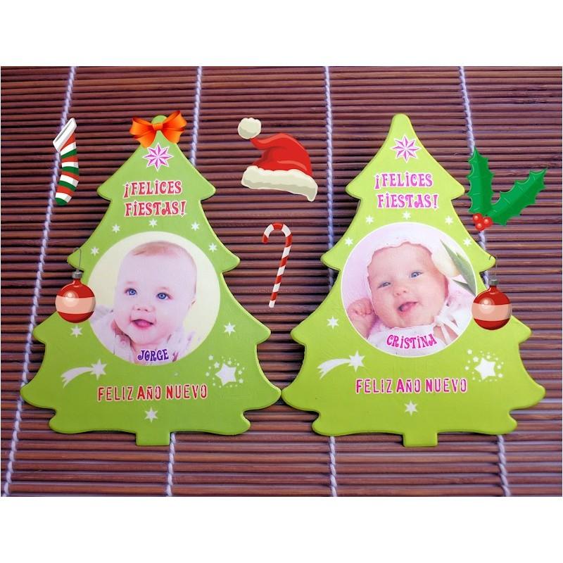Felicitación de Navidad árbol
