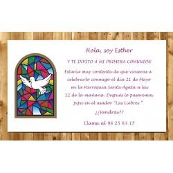 Invitación de Primera Comunión Paz