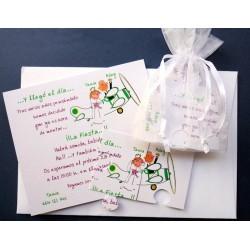 Invitación de boda  puzzle  Avión