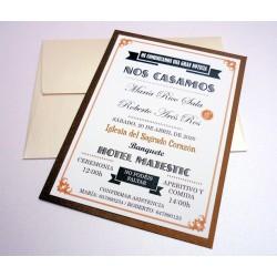Invitación de boda New York