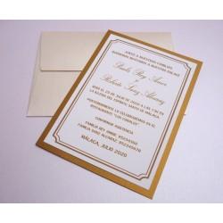 Invitación de boda Gold Viena
