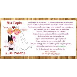 Invitaciones de boda Mis papis se casan y me bautizan