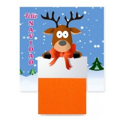 Imán con post it moderno para regalar en Navidad