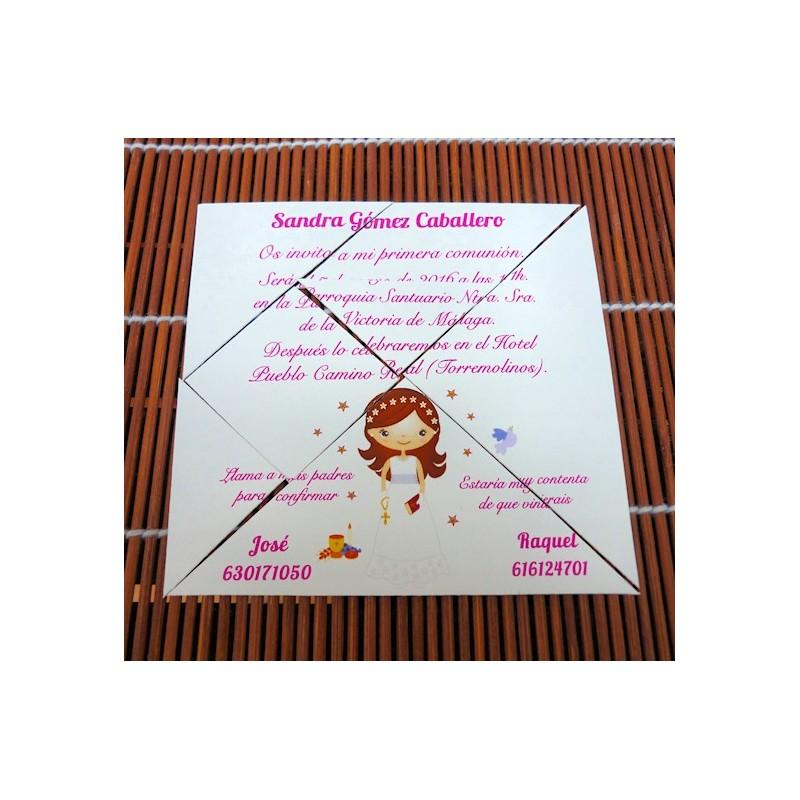 Invitación de Comunión Tangram