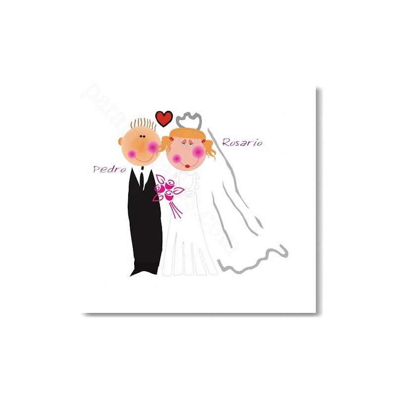 Invitación de boda Novios