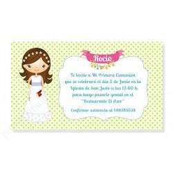 Invitaciones para comunión niña