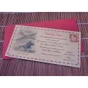 """Invitación  de boda Vintage """"Air Mail"""""""