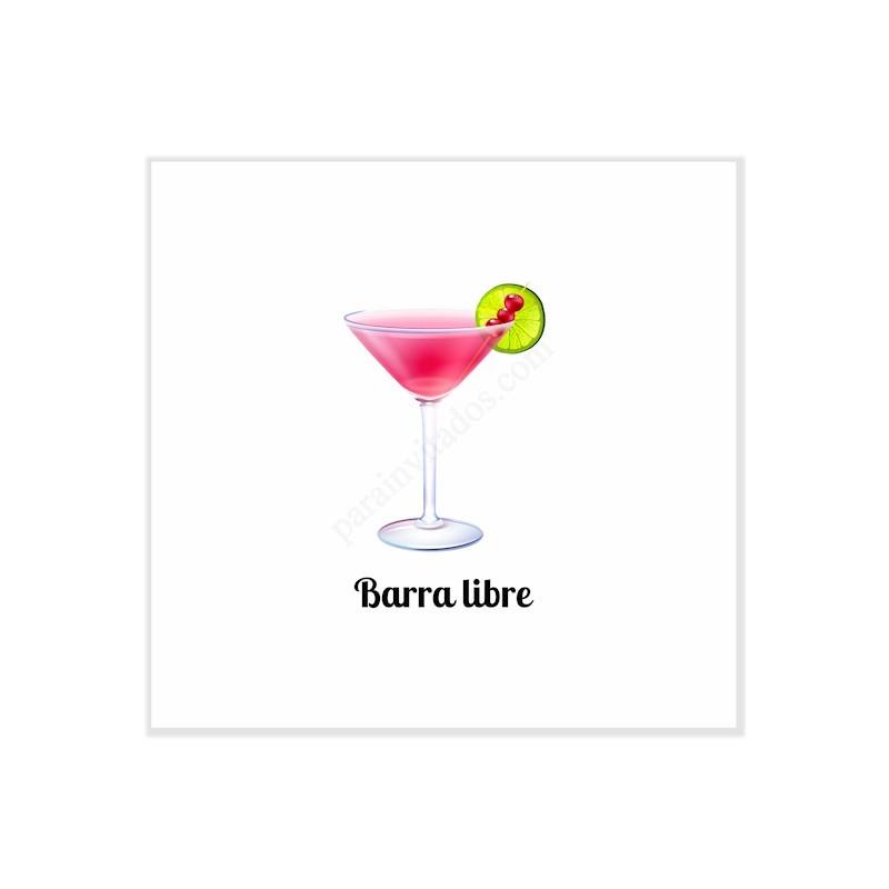 Invitaciones Divertidas para boda Barra Libre