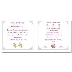 Invitación de boda Mil noches