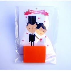 Obsequios de boda post it con imán