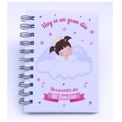 Recuerdos y Detalles Originales Para Invitados Bautizo - Libretas con Mini Bolígrafo ¡Tus Familiares y Amigos Alucinarán!