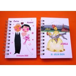 Obsequios de boda libretas personalizadas