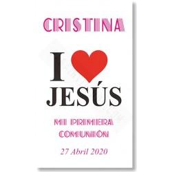 Tarjetones de comunión Love Jesús