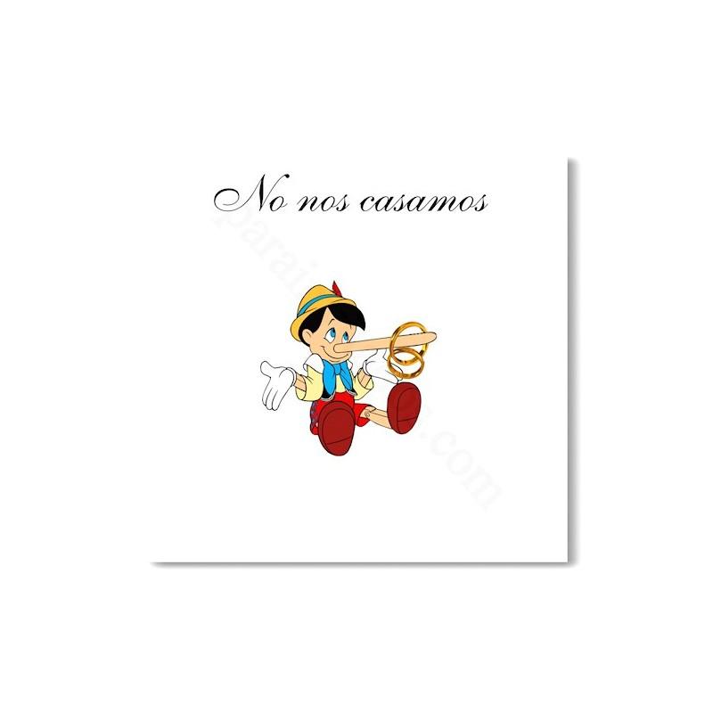 Invitación de boda Pinocho