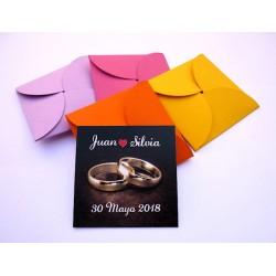 Regalo de boda imán personalizado anillos