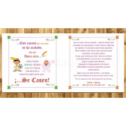 Invitación de Boda Cuento Novios y niños