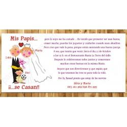 Invitación de boda Mis Papis se casan Niño