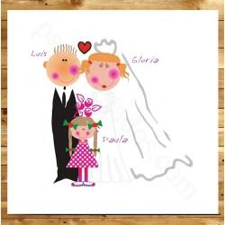 Invitaciones de boda con hijos divertidas